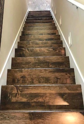 Stained Wood Stairs
